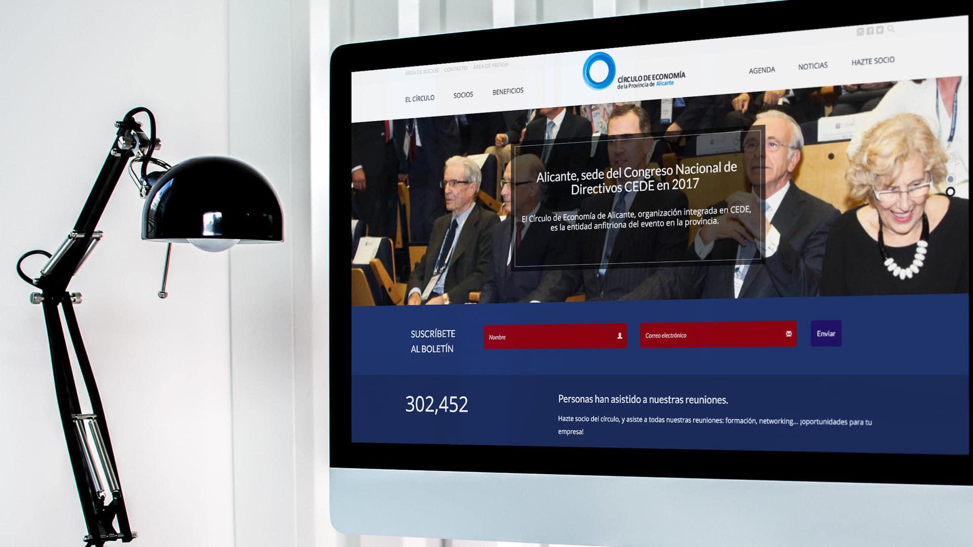 Mockup de web Círculo de Economía de Alicante
