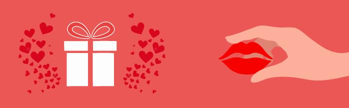 Regala amor y consigue besos en la experiencia al usuario.