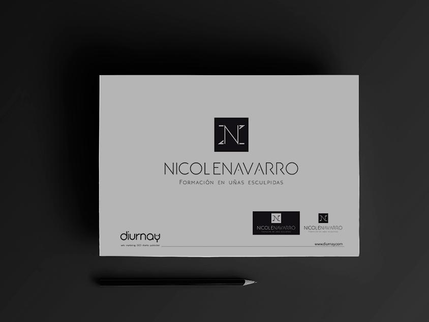 Diseño imagen de marca para Nicole Navarro, confianza y actitud.