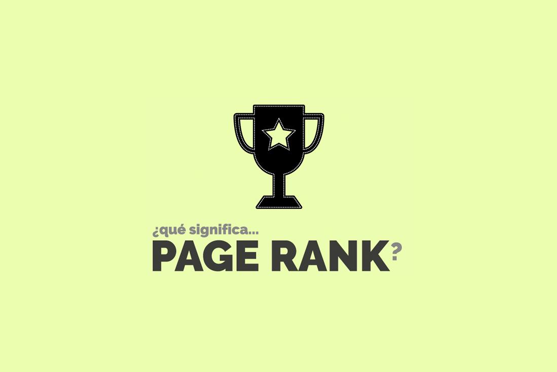 Qué significa page rank