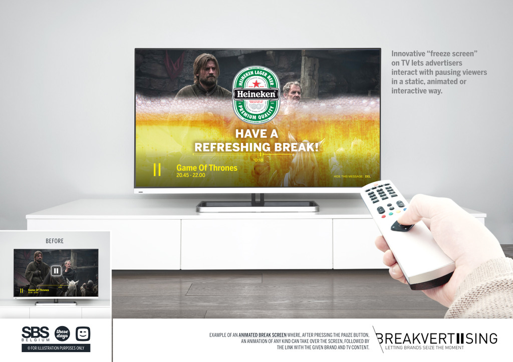 BREAKVERTISING: la publicidad durante la pausa en TV diferida