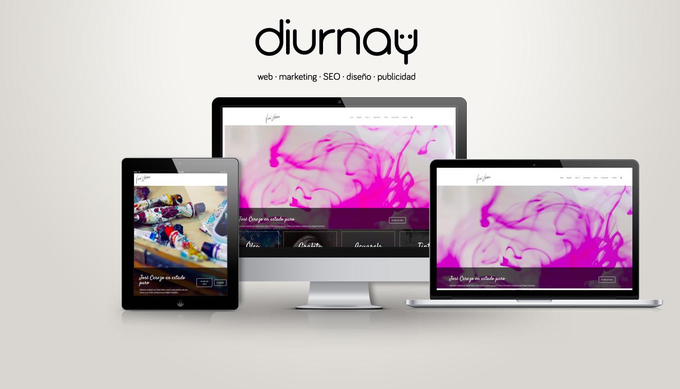Mockup de web José Cerezo Artista Plástico