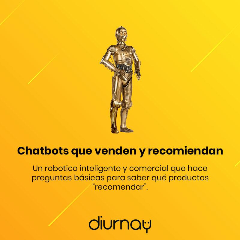 Chatbots que venden y recomiendan